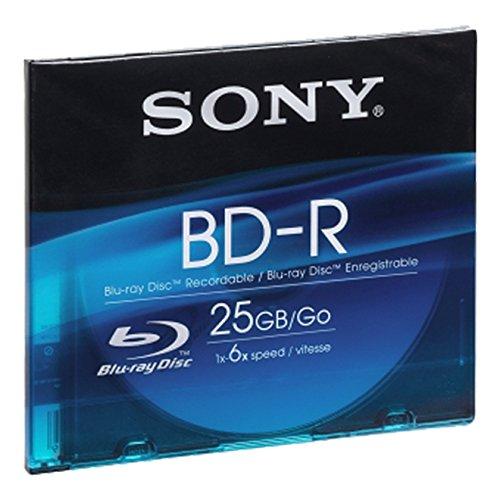 Sony BNR25SL Blu-ray Rohlinge (6x Speed, 25GB, 1er Slim Case) Sony Vaio Blu-ray