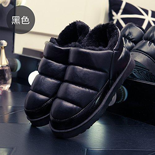 matura Autunno Inverno spessa anti di a impermeabile uomini cotone slitta caldo Nero3 con coperta slittamento soggiorno DogHaccd confezione home pantofole e pantofole pantofole donne xaBAqcw