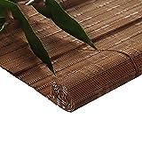 Bambusrollo- Bambusrollenschatten mit 15cm Volant, Türfensterbehandlungen Rollo, Benutzerfreundlichkeit, Braun (Größe optional) (größe : 50x90cm)