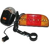 #8: CCAPTAIN Bike Bicycle Indicator Horn light Brake light front light Back light all in one