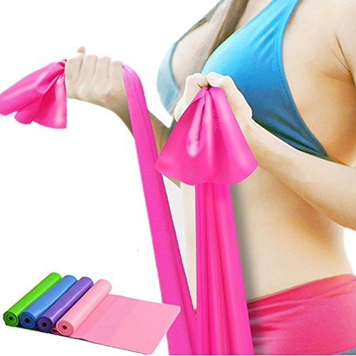 Colorful (TM) Premium Flexibilität Stretch-Band / Fitness-band / Gymnastik-band /Dehnband /für Yoga, Tanzen, Ballett & Training (Blau) (Stretch-bänder, Gymnastik)