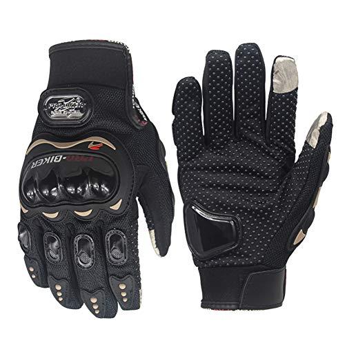 ZFLY-JJ Guanti Moto - Guanti Impermeabili, Touchscreen e Pieno Dita Guanti, Guanti CE di Protezione con Fibra di Carbonio e Pelle, per Moto Bici Sport Racing Moto Cross Country Gloves,XXL