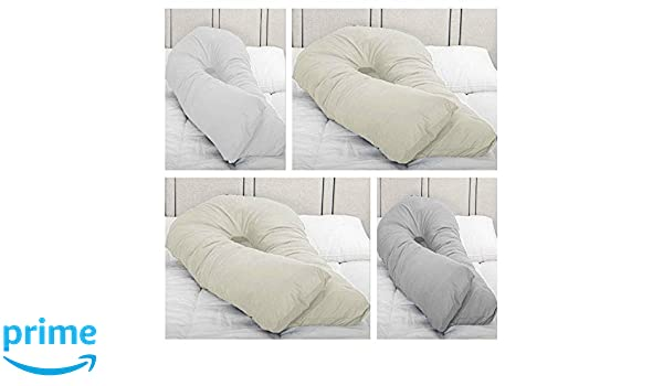 9//12Ft Duck Feather /&Down C-U Pillow//Pillowcase Back Support Maternity Pregnancy