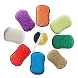 antibactérien en microfibre de cuisine de tampons à récurer double face éponges grattante non...