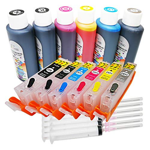 FINK - Set di cartucce d'inchiostro e cartucce di inchiostro PGI-570 CLI-571, compatibile con stampanti Canon Pixma MG7750 MG7751 MG7752 MG7753 TS9050 TS9055 TS8050 TS8051 TS8052 TS8053