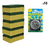 #9: Brite Guard Polyester Blend Scrub Sponge with Stainless Steel and Scrub Pad (Pack of 15)