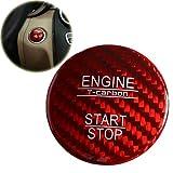 Fancy Auto Kohlefaser Auto Styling Start Taste Aufkleber Auto Auto Dekorative Zubehör für Mercedes-Benz NewA / B / C / E Klasse GLC GLE(Rot)