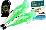 Pro ANGEL WINGS Poi Set (Vert) Flames N Games Spiral Poi + Kid Poi DVD (in Deutsch) +Reisetasche. Swinging Poi und Spinning Pois! Pois für Anfänger und Profis.