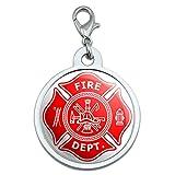 Firefighter Feuerwehr Malteser Kreuz–vergoldet groß, chrom rot Metall Pet Dog Cat ID Tag