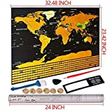 Mapamundi,Mapa del Mundo rascar travel edición,Personalizada de Viaje Aventura Regalo para Viajero Decoración de Pared