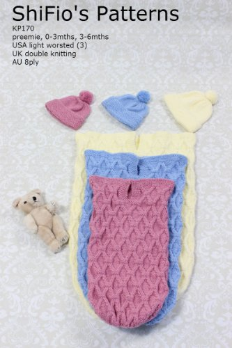 Knitting Pattern Kp170 Baby Cocoon Papoose 3 Sizes Ebook