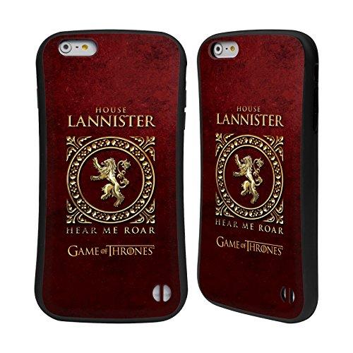 Ufficiale HBO Game Of Thrones Stark Sigillo Metallico Case Ibrida per Apple iPhone 7 Plus / 8 Plus Lannister