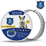 Zwini Anti Flea and Tick Collar for Cat Natural Cat Flea Collar with 8 Month Protection 15''Fits for Small Medium Large Pets