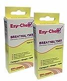 4 x Ezy-Chek Einweg-Alkoholtester - Beutellos Technologie : Uk Und Nf Normen 2 x Doppelpack Breathalyzer