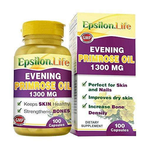 Aceite de Onagra 1300mg de Epsilon 100 Capsulas