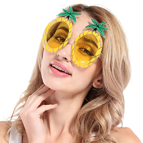 REALIKE Unisex Männer und Frauen Mix 3 Colors Set von 3 lustige Party Sonnenbrille Ananas Tropical Hawaiian Sommer Party Brille Hochzeit Dekoration für Gastgeschenken