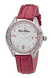 Paris Hilton H PH12988JSPK/04 Sterling Silver Glitter Dial with Pink Leather Strap Watch