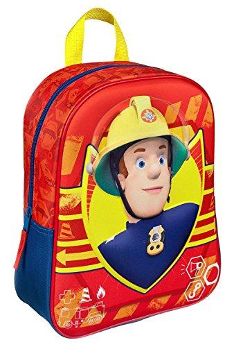Undercover FSBT7622 Rucksack mit 3D Applikation, Feuerwehrmann Sam