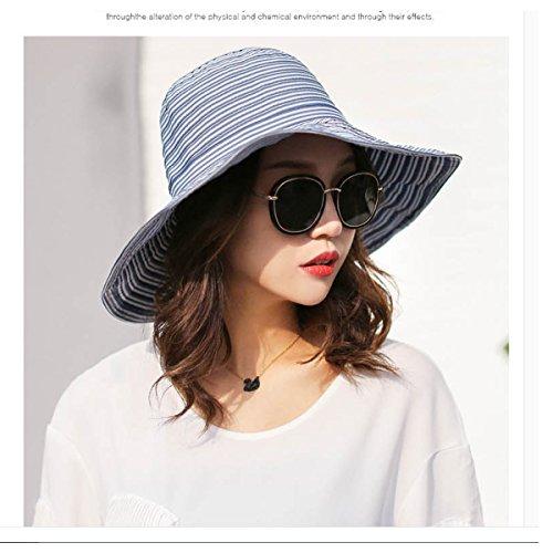 Sombrero Plegable del Verano Sombrero Ancho del Sol para Las Mujeres  Sombrero de la Playa con de43ebdaf163