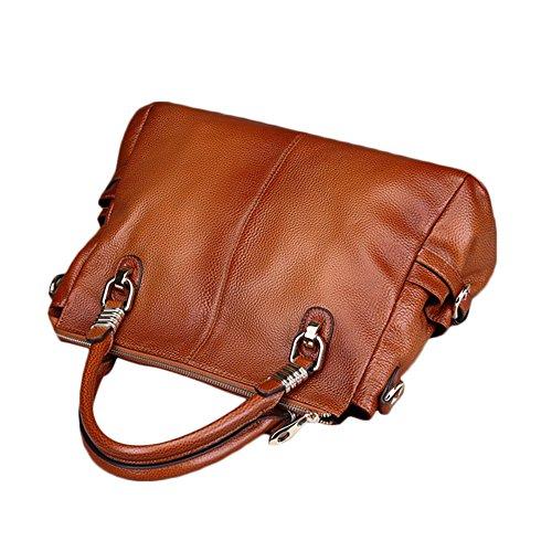 Il nuovo modo di Myleas donne Tote spalla del cuoio genuino della borsa Rosso