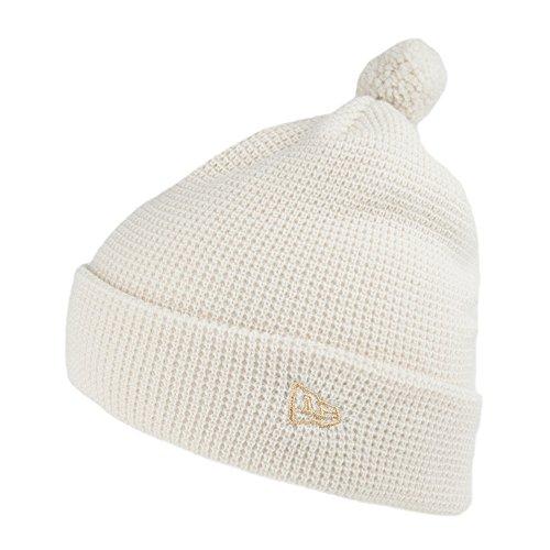 New Era Damen Waffelstrick Bommelmütze - Weiß - One Size (New Era Hats Schnee)