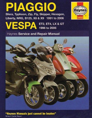 Piaggio/Vespa Scooters Service and Repair Manual: 1991 to 2006 (Haynes Service & Repair Manual) -