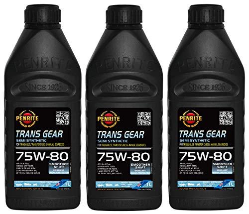 Penrite Trans Gear 75W-80 GL4 Olio Semi Sintetico per Ingranaggi, MTF94, 235.10, 3 Lit