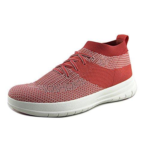 191945e9ef2d Fitflop Uberknit Slip on High Top Sneaker Colour  Hot Coral Neon BLU