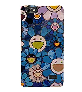 printtech Flower Abstract Design Back Case Cover for Huawei Honor 4C