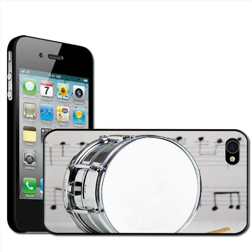 """Fancy A Snuggle Hardcase für Apple iPhone 4 / 4s, Motiv """"Snare-Drum mit Notenblatt"""""""