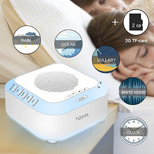 Máquina de Ruido Blanco para Dormir con 4 Sonidos...