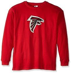 NFL Atlanta Falcons Men's Screen Thermal Long Sleeve T-Shirt, X-Large Tall, Red