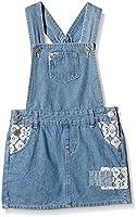 Pumpkin Patch Girl's Denim Pinafore Dress Plain Dress, Blue (Denim), 3 (Manufacturer Size:2)