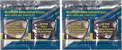 Gelb Aus Scheinwerfer-Reinigungsmittel 2 Sets von Scheinwerfer-Reinigungstücher - Vier Scheinwerfer-kit
