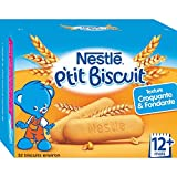 Nestlé Bébé P'tit Biscuit - Biscuit dès 12 Mois - Boîte de 180g - Lot de 6
