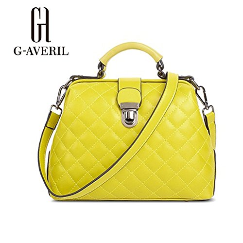G-AVERIL, Borsa a mano donna viola Purple Yellow