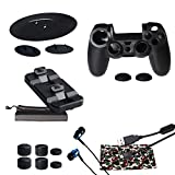 PlayStation Accessories Kit, 15 in 1 with Silicone Cover, Vertical Stand, Charging Stand, Headphone, Controller Charging Cable, Controller Sticker,etc. for PS4, PS4 PRO, PS4 Slim Sony Play Station