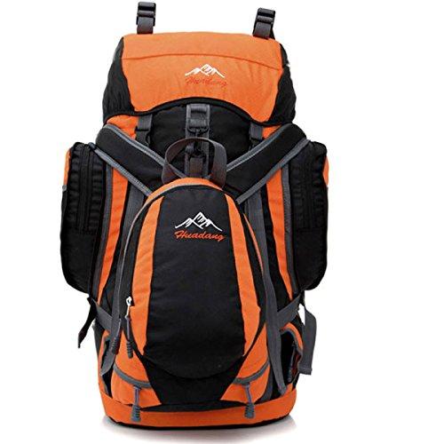Outdoor Rucksack Klettern Schulter Tasche Reise Tasche Wasserdicht 70L Orange