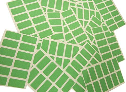 200 étiquettes, taille rectangulaire 25 x 12 mm Étiquettes autocollants Vert clair