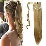 Clip in Extensions Pferdeschwanz Haarteil Glatt Ponytail Extensions günstig Haarverlängerung 23
