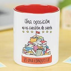 La Mente es Maravillosa | Taza cerámica de café o desayuno | Regalo para la OPOSICIÓN | Una oposición no es cuestión de suerte ¡Es una conquista! | RESISTENTE 100% al microondas y lavavajillas | Taza con mensaje para opositores | Taza con frase de motivación | BONITA y EXCLUSIVA | esmaltado especial brillante de GRAN CALIDAD | Frases y dibujos creativos grabados en la superficie | Perfecta para cualquier bebida, infusión o té | Oposición