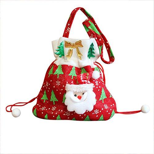 ♥ Loveso ♥-Fröhliche Weihnachten Dekorative Geschenk Tasche für Candy Weihnachten Santa Schneemann Strumpf Filler (20 * 24cm, B) (Weihnachts-strumpf Spielzeug)
