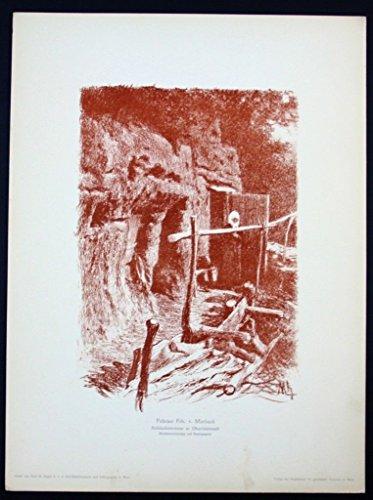Felician von Myrbach-Rheinfeld Wien Original Lithographie Litho