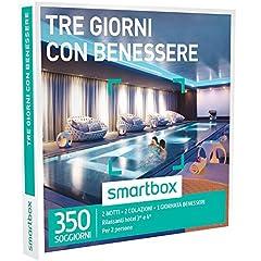 Idea Regalo - smartbox, Tre Giorni con Benessere - 350 Soggiorni con Benessere in Hotel 3* e 4*, Cofanetto Regalo, Soggiorni
