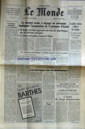 MONDE (LE) [No 11700] du 10/09/1982 - LE FILS DU GENERAL DALLA CHIESA ACCUSE LADEMOCRATIE CHRETIENNE SICILIENNE D