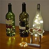 Botella Kit de luz 15LED Brillante Pegatina Botellas de Luces con batería, luz Juego de Instalación Fairy Lights batería Top Boda Decoración, E, Talla única