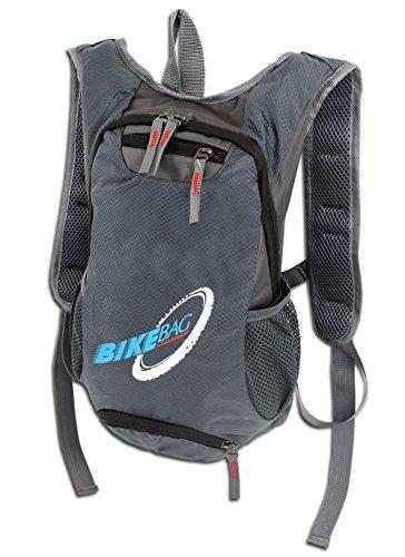 Fahrradrucksack für Trekking Outdoor Sport | Ultra-Leichter handlicher Rucksack fürs Bike in 2 Farben | gepolstert (Grau)