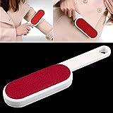Gugutogo 1 Stück Kleidung Abstauben Statische Pinsel Zweiseitige Haarentferner Tearing Reinigungswerkzeug Marke Neue (Farbe: Weiß + Rot)