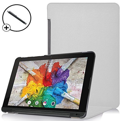 Forefront Cases® LG G Pad X II 10.1 Hülle Schutzhülle Tasche Case Cover Stand - Ultra Dünn & Leicht mit R&um-Geräteschutz - inkl. Eingabestift (WEIß)
