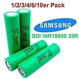 Samsung SDI inr18650–25R–Batterie–3.7V–2500mAh–20A Outils–Idéal pour cigarette électronique e lampes de poche de vélo de modélisme 2 Stück